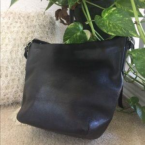 9277434add Coach Bags - Coach Smooth Leather Bucket Crossbody Large Black